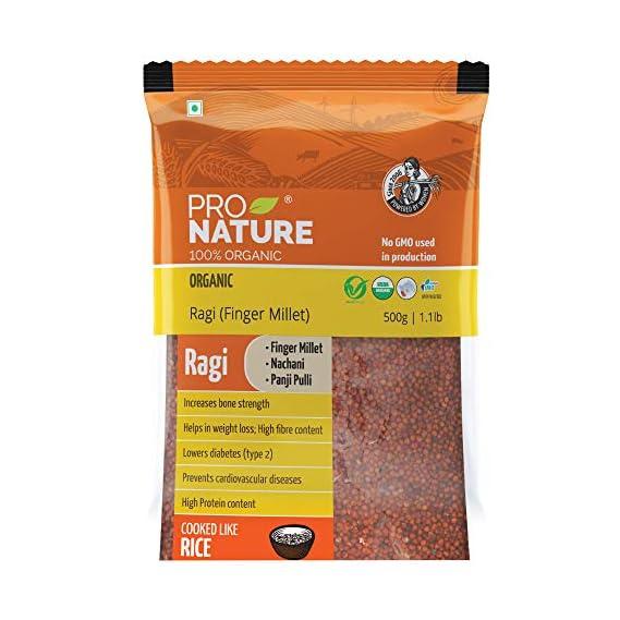 Pro Nature 100% Organic Ragi Millet, 500g