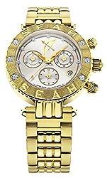 Seah Galaxy Zodiac sign Sagittarius Limited Edition 38mm Yellow Gold-Tone Swiss Made Luxury 1/2 carat Diamond Watch.