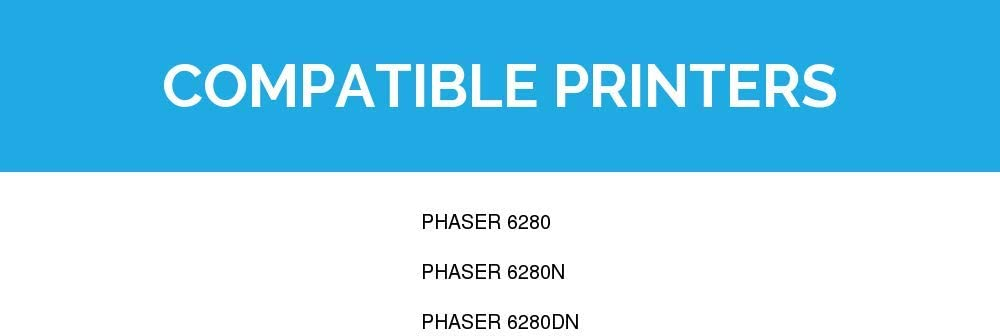 LD Compatible Toner Cartridge Replacement for Xerox Phaser 6280 106R01392 High Capacity Cyan