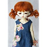JD294 6-7inch 16-18CM pigtail Baby curly mohair doll wigs 1/6 YOSD BJD accessories (Carrot)
