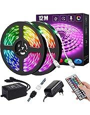 LED-remsa , RGB ränder LED-ljusslinga, LED-remsa RGB 5050 LED-ränder, LED-lampor för sovrum (44Key IR Remote Mic+Music Sync)