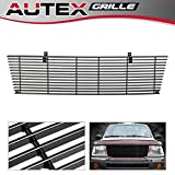 99 tacoma billet grill - AUTEX Black Aluminum Horizontal Billet Main Upper Grille T85463H Compatible With 1998 1999 2000 Toyota Tacoma 4WD Grill