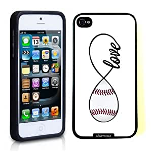 SudysAccessories Baseball Love Baseball Infinity Love Thinshell Case Protective iPhone 5 Case iPhone 5S Case