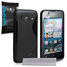 Huawei Ascend Y300 Case Black S-Line Silicone Gel Cover