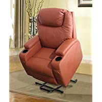 Power Massage Lift Chair with Heated Function, Orange