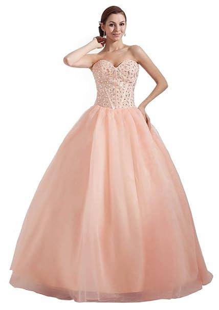 George Bride schoene Princesa del tesoro perlas Recepción vestido/para vestido de noche Rosa 38