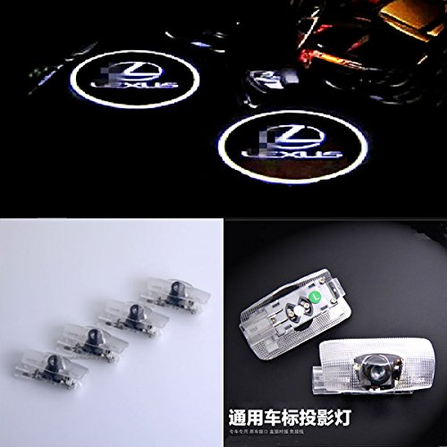 CNAutoLicht 4X CREE LED Door Step Courtesy Light Laser Shadow Logo Projector Lamp Welcome Light For LEXUS LS430 LS460 ES330 ES350 IS250 IS350 LX470 LX570 RX350 GS300 GS430 GS460 GX460