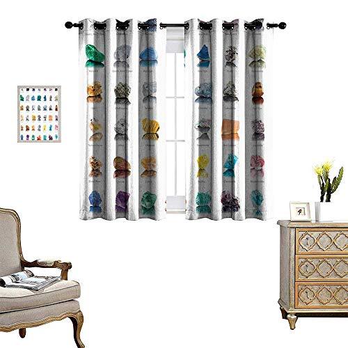 "Blackout Curtain Patio Sliding Door Curtain for Living Room/Bedroom Magic Zen Chakra Home Shi Modern Bathroom Ideas Meditatial 72""X63"""