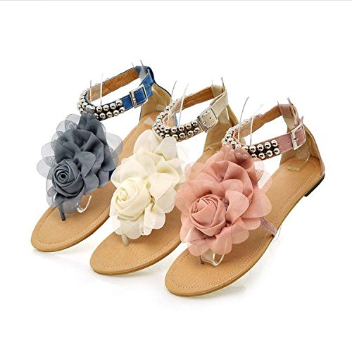 Women'S Sandals Robert Flat Heels For Sandals Beaded Flower Westbrook Summer Pink Women Flops Flip Shoes frfxwq0P5B