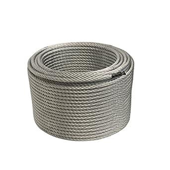 ALEKO WR3/8G7X19F250 3/8 Inch 7X19 Galvanized Aircraft Steel Cable ...