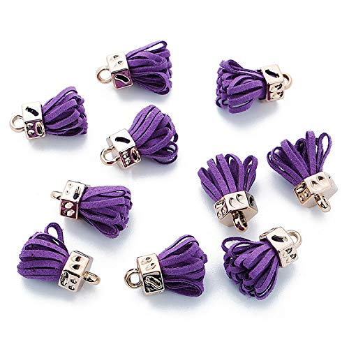 (20pcs/Lot 25mm Suede Leather Tassel Charms for Earring Keychain Cellphone Straps (Color - Color 12))