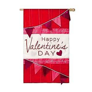 Día de San Valentín celebración Applique casa bandera