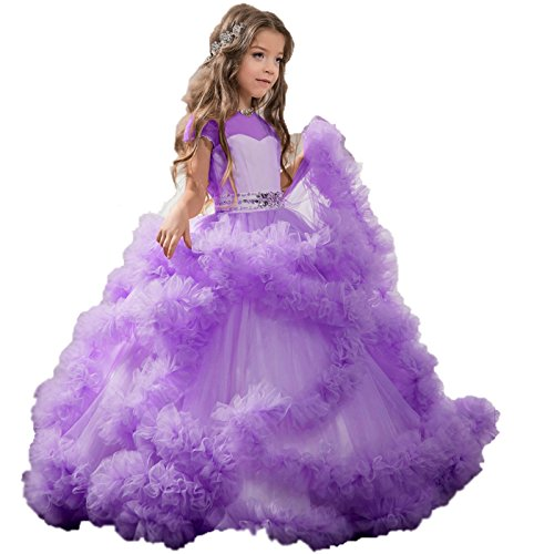 Mingxuerong Hochzeitskleid Mädchen Lange Blumenmädchen Kinder ...