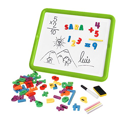 Miniland 97935 Magnetic Board Letters+Numbers, Multi-Color