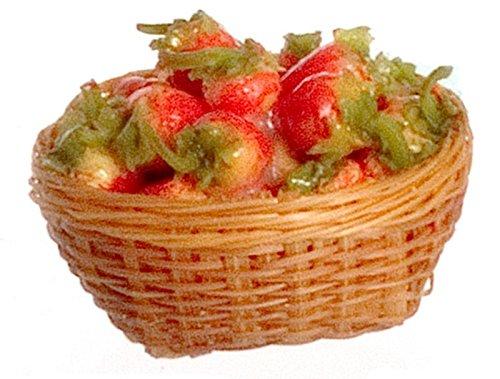 Dollhouse Miniature Strawberries in a Basket Falcon Miniatures