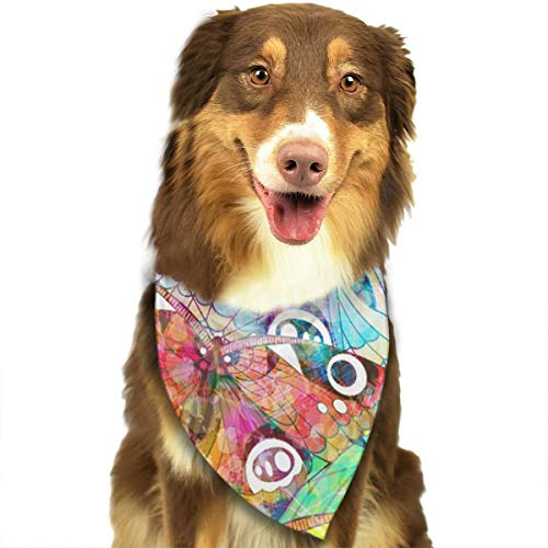 TNIJWMG Butterfly Colorful Bandana Triangle Bibs Scarfs Accessories for Pet Cats and Puppies]()