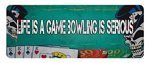 - Makoroni - LIFE IS A GAME BOWLING IS SERIOUS Game Gamer Car Laptop Wall Sticker