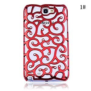 Zircon Howoll Out Pattern Hard Case for Samsung Galaxy Note2 N7100(Assorted Color) --- COLOR:8