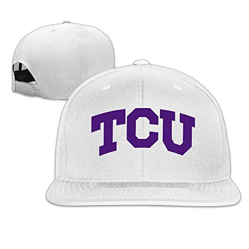 Price comparison product image Custom Unisex-Adult Texas Christian University TCU Adjustable Trucker Hats Caps White
