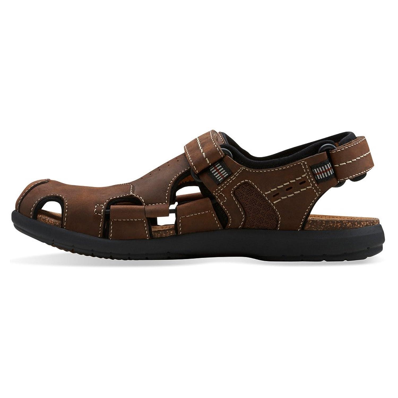 Amazon.com | Clarks Un.Bryman Bay Mens Brown Leather Sandal 11-MEDIUM |  Sandals