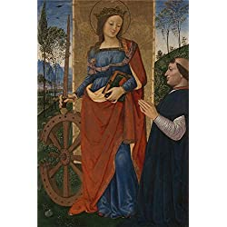 Perfect Effect Canvas ,the Beautiful Art Decorative Canvas Prints Of Oil Painting 'Pintoricchio Saint Catherine Of Alexandria With A Donor ', 10 X 15 Inch / 25 X 38 Cm Is Best For Kids Room Gallery Art And Home Artwork And Gifts