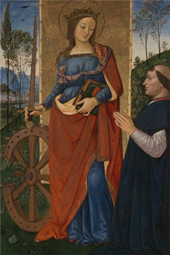 [Perfect Effect Canvas ,the Best Price Art Decorative Canvas Prints Of Oil Painting 'Pintoricchio Saint Catherine Of Alexandria With A Donor ', 12 X 18 Inch / 30 X 46 Cm Is Best For Gift For Bf And Gf And Home Decor And] (Cobra Kai Costume Large)