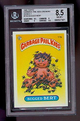 1985 Topps Garbage Pail Kids 1 Bugged Bert #11B BGS 8.5 ()