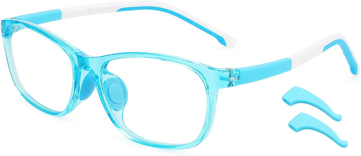 Kids Anti-Blue Light Glasses UV400 Protection Computer Gaming TV Glasses Anti-Glare Anti-Fatigue for Boys Girls 3-12 Years Old