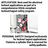 Government Safety Lockout Padlock, Zenex, 1 1/2 inch, Red, 1 Key