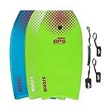 """BPS 37"""" Green w/Purple Dots Bodyboard"""