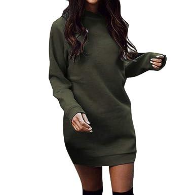 6159c1a7656 Hibote Hiver Chaud Robe pour Femmes