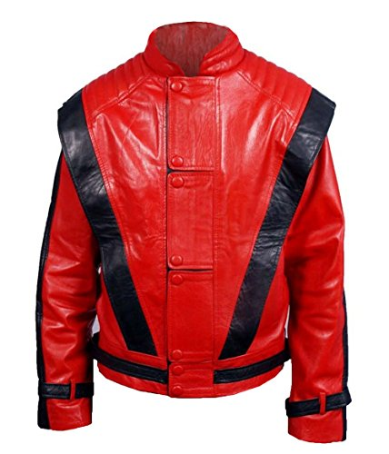 MSHC Men's Micheal Jackson Thriller Faux Leather Jacket XL Red & -