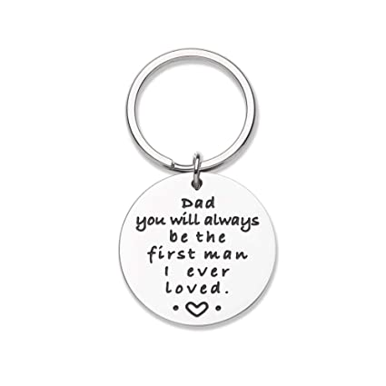 Fathers Day Birthday Gifts For Dad Keychain From Son Daughter You Will Always Be The First
