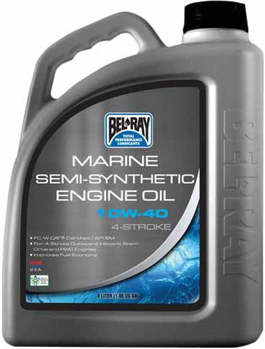 Bel-Ray Marine Semi-Synthetic Engine Oil 4T - 4L. - 10W-30 (Semi Synthetic Engine Oil)