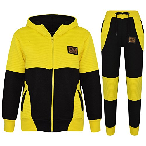 Price comparison product image Kids Jogging Suit Boys Girls Designer's Tracksuit Zipped Top & Bottom 7-13 Years