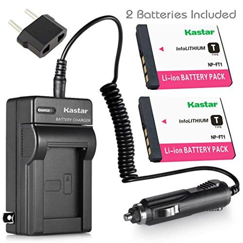 Kastar Battery 2 Pack and Travel Charger Kit for Sony NP-FT1 NPFT1 and Sony DSC-L1, DSC-M1, DSC-M2, DSC-T1, DSC-T3, DSC-T5, DSC-T9 DSC-T10, DSC-T11, DSC-T33 Digital Camera ()