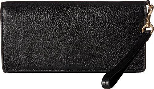 d Leather Slim Wallet Im/Black One Size (Coach Handbags Wallets)