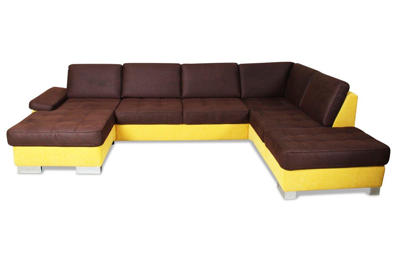sofa poco u wohnlandschaft rechts mobile stoff webstoff gelb g nstig. Black Bedroom Furniture Sets. Home Design Ideas