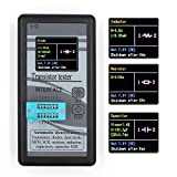 Mosfet Transistor Capacitor Tester, Mega328 NPN/PNP Transistor Diode Resistor Inductor Capacitance MOS SCR ESR Meter Automatic Checker Detector with 1.8'' 12864 TFT Color LCD Digital Display
