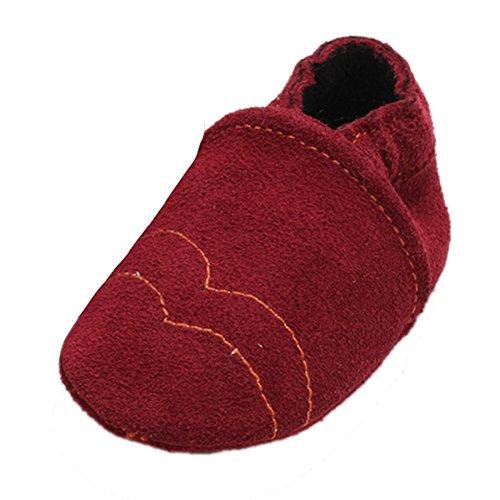 Leap Frog Boat Sneakers - Primeros Pasos de Ante Bebé-Niñas Rojo