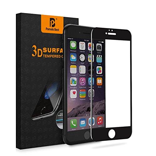 活気づくキャッチカカドゥPomelo_Best iphone 6 6s 強化ガラスフィルム 全面フルカバー 4.7インチアイフォン用 液晶保護 3Dラウンドエッジ加工 気泡ゼロ 耐衝撃 飛散防止 指紋防止加工 0.33mm 硬度9H(iphone6/6s,ブラック)
