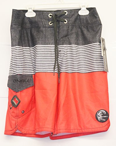O'Neill Red with Stripes Swim Trunks (28)