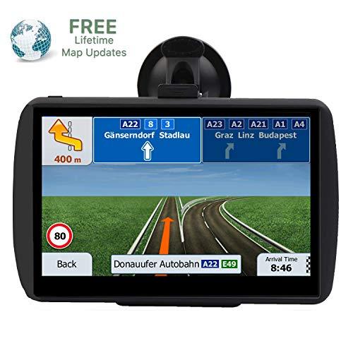 GPS Navigation for Car,7 inch 8GB HD Car GPS Navigation,Lifetime Map Free Update,Speed Limit Reminder,Quick Positioning (Best Car Speakers Uk)