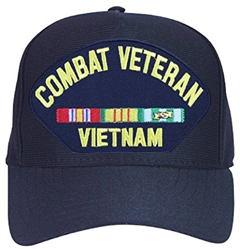 Combat Veteran Vietnam with Ribbons Ball Cap