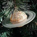Blown Glass Saturn Ornament