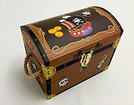 Incroyable Boys Pirate Treasure Chests. Toy Box Trunk Storage. Jolly Roger   Small