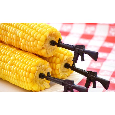 Acquisition Gibson M16 Stainelss Steel Corn Holders - 4 Sets Included (NEW) dispense