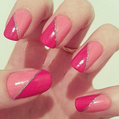 Fashion Nail Art Designs Game Pink Nails Manicure Salon: MAKARTT 500pcs Well Less Nail Tips Half Cover Natural