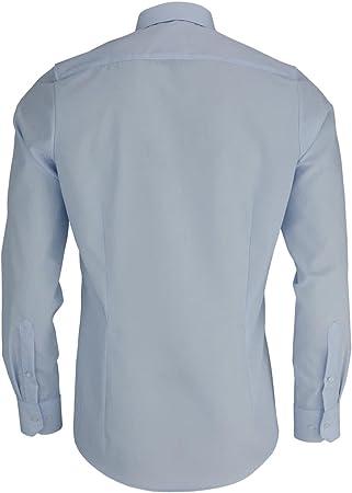Marvelis Body Fit - Camisa monocromática azul claro 41
