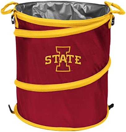 NCAA Iowa State Cyclones Adult Collapsible 3-in-1 Trash Can Cardinal